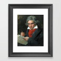 Ludwig van Beethoven Portrait Framed Art Print