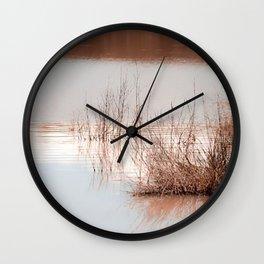 cañas  y barro Wall Clock