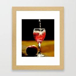 Wine and Apple Framed Art Print