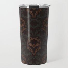 Bat Damask Travel Mug