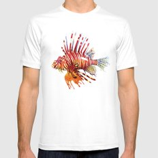 Lionfish White MEDIUM Mens Fitted Tee