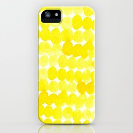 yellow//dots iPhone Case