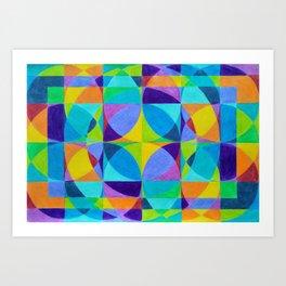 The Cross of Light Effect Art Print