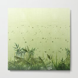 """""""Forest leaves and plants"""" Metal Print"""