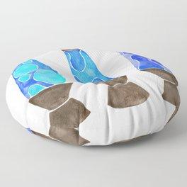 Retro Vibes – Blue Palette Floor Pillow