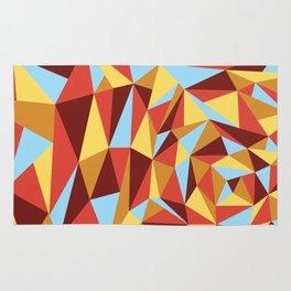 Triangle sunset hues Rug