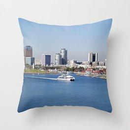 Shoreline Village in Long Beach, California Throw Pillow