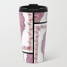 Strawberry Ice Cream Cone Collage Metal Travel Mug