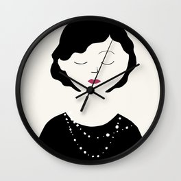 Coco in the sky with diamonds Wall Clock