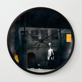 Alien in Our Midst Wall Clock