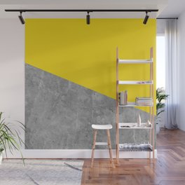 Geometry 101 Vivid Yellow Wall Mural