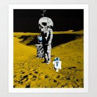 walk the moon Art Prints featuring Moon Walk by Marko Köppe