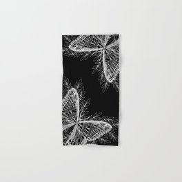Black and White Butterfly Design Hand & Bath Towel