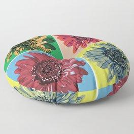 Pop Art Flower Floor Pillow