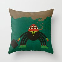 spider man Throw Pillows featuring Spider man by Sklett
