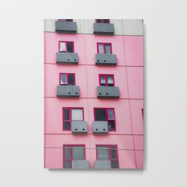 BLACK PINK AND GREEN CUBE TOY Metal Print