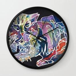 Rainbow Magic Meow Cat Wall Clock