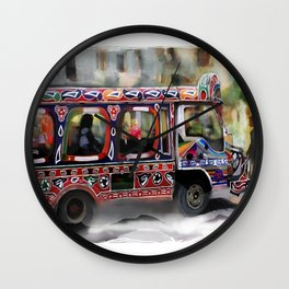 The Magic Bus Wall Clock