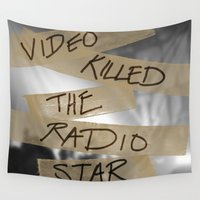 radio Wall Tapestries featuring Video Killed the Radio Star by Christina