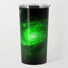 Spiral gAlaXy. Green Travel Mug