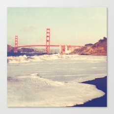 Golden Gate bridge. San Francisco photograph Canvas Print