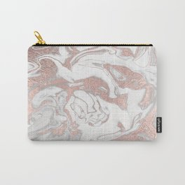 Rosegold marble Carry-All Pouch