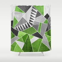 concrete Shower Curtains featuring Concrete Jungle by Elisabeth Fredriksson