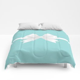 Turquoise & White Bow Comforters