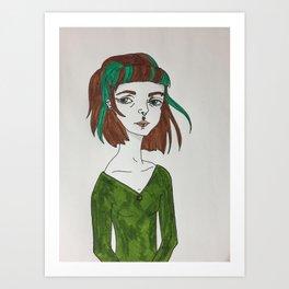Earth girl Art Print