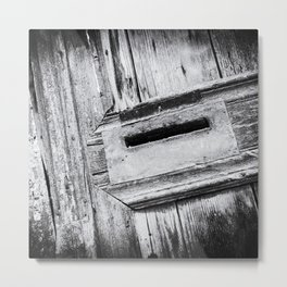 Letterbox close-up in a Old Wooden Door | Doors of the World | Rethymnon, Greece, Europe | Black & White Photography | Travel Photography | Photo Print | Art Print Metal Print