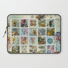 Undersea Garden Postal Collage Laptop Sleeve