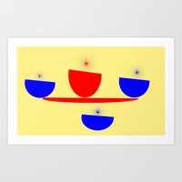 breakfast Art Prints featuring Breakfast by lillianhibiscus