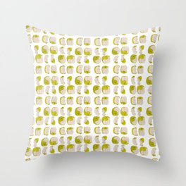 Eating process (Apple) // watercolor apple consumption Throw Pillow