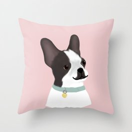 Cute Boston Terrier Throw Pillow