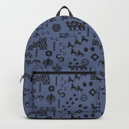 Peoples Story - Black on Blue Backpack