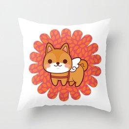 Shiba wings Throw Pillow