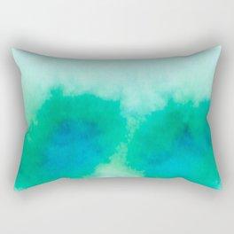 Green Blue Haze Rectangular Pillow