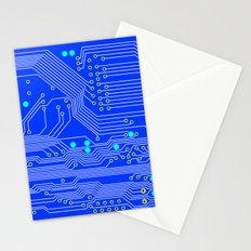 Blue Circuit Board  Stationery Cards