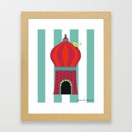 Yellow Bird Circus Time Framed Art Print