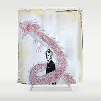 kpop Shower Curtains featuring Dragon Spirit by Ahri Tao