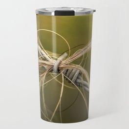 Rural Barbed Wire Animal Hair Travel Mug