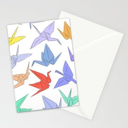 Japanese Origami paper cranes symbol of happiness, luck and longevity Stationery Cards