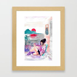 H mugs and purple chucks Framed Art Print