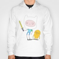 jake Hoodies featuring Finn & Jake by Rod Perich