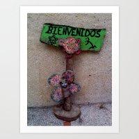 bienvenidos Art Print