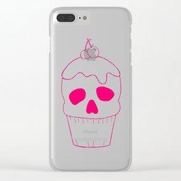 Skullcake Pink Clear iPhone Case