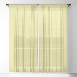 YELLOW IRIS pastel solid color  Sheer Curtain