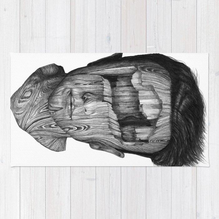 wood kid Rug