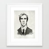 benedict Framed Art Prints featuring benedict cumberbatch  by Angela Taratuta