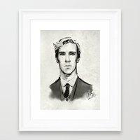 cumberbatch Framed Art Prints featuring benedict cumberbatch  by Angela Taratuta
